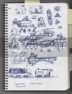 Locomalito's Hydorah sketchbook - page 2