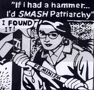 Women can use hammers because theyre non-violent