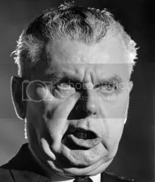 The Right Honourable John Diefenbaker, Canadas 13th prime minister, and model for Clarence Witherspoon (and inadvertently, Satan).