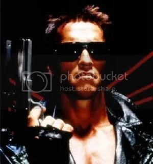 It is against the law to use the phrase Ill be back without accompanying it with a picture of the Terminator
