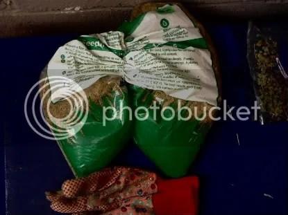 Grass seed bag
