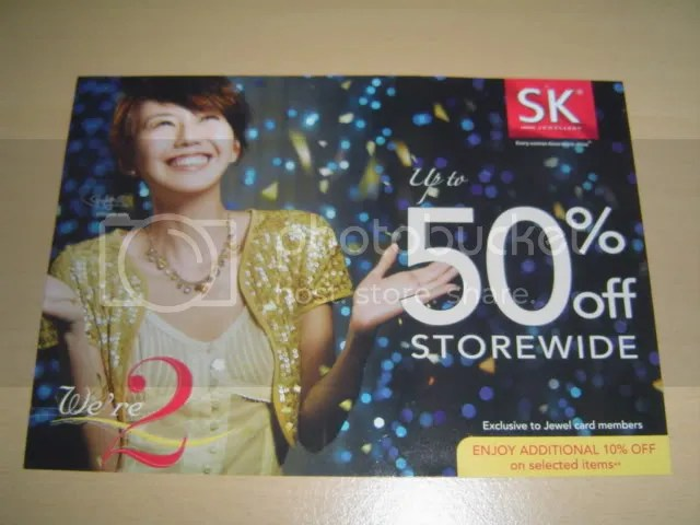 SK Jewellery Promotion PostCard.