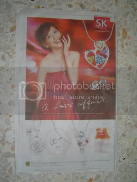 YanZi SK Jewellery Advertisement @ 4th Feb 2006 Straits Times LIFE!