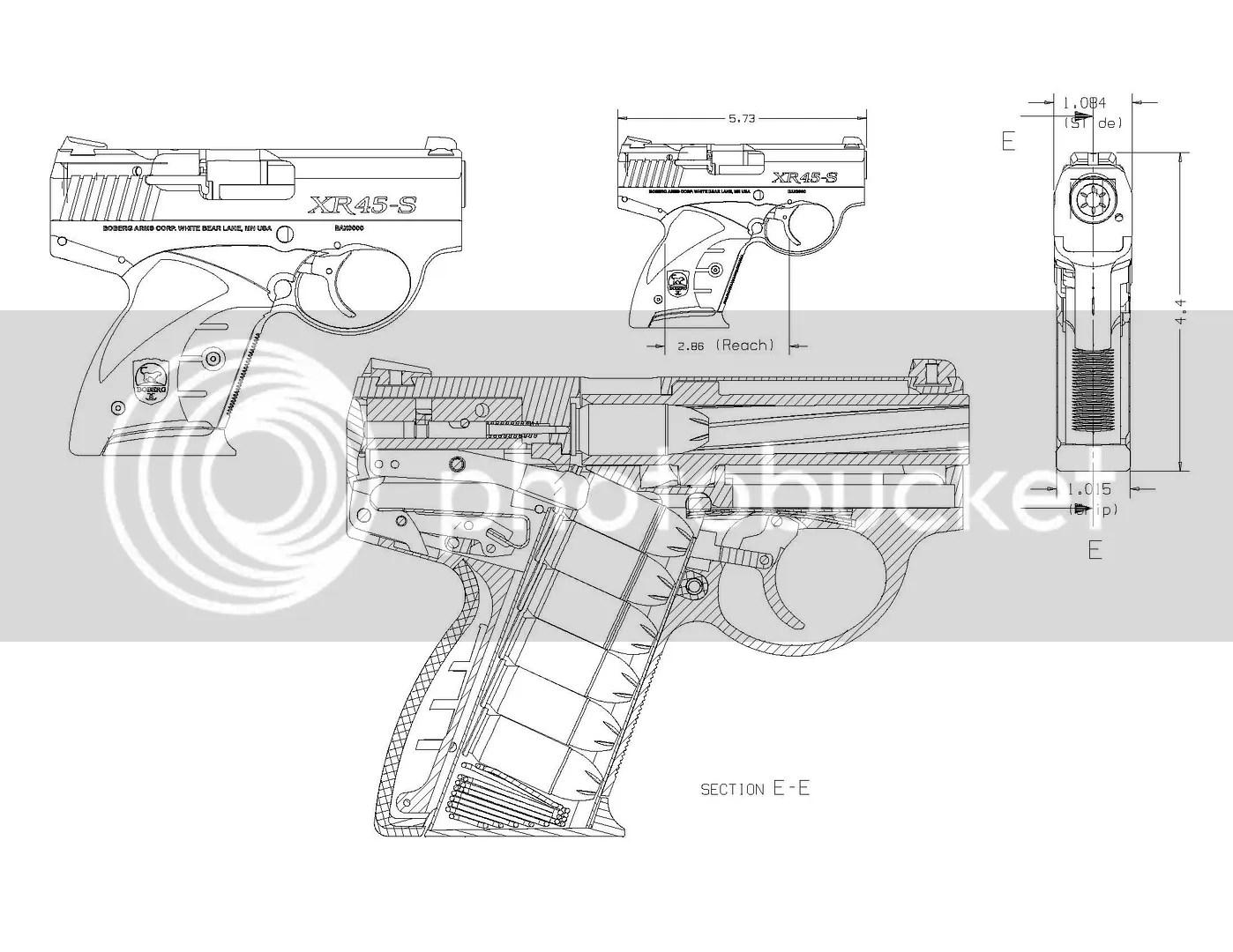 Pocket Guns And Gear A Sneak Peek At The Boberg 45 Acp Xr45 S