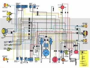 1974 CB250 wiring diagram