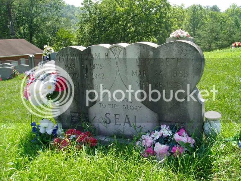 William & Elizabeth Seal grave marker