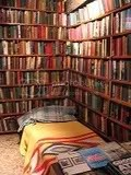 bed in the book store