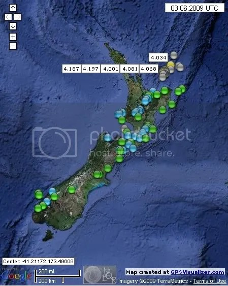 New Zealand Earthquakes June 3rd 2009