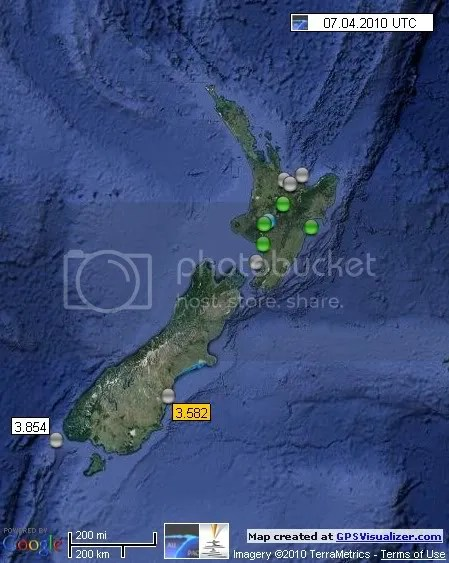 New Zealand Earthquakes 7 April 2010 UTC