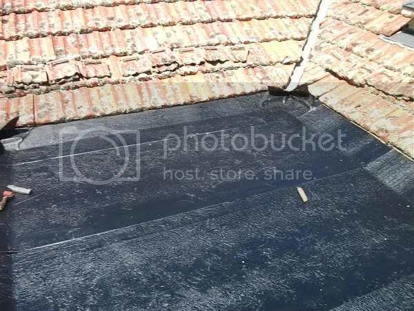 back of the roof covered with the ardex shelterstick basesheet