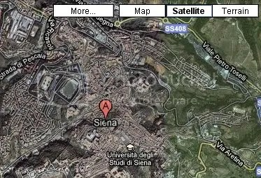 Satellite View of Siena, Italy