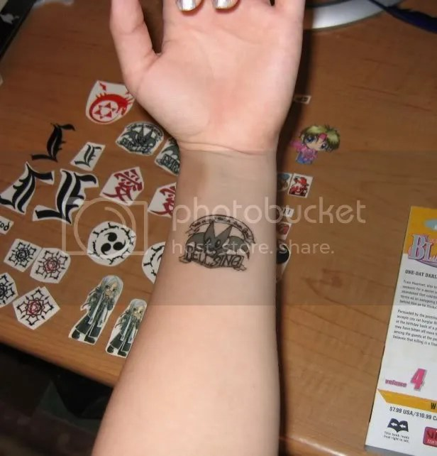Train's XIII, Kyo's tattoo, and Vampire Knight ones personally. Naruto