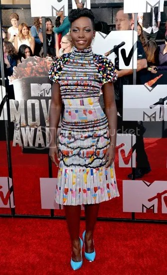Lupita Nyong'o MTV Movie Awards 2014, Lupita Nyong'o dress, Lupita Nyong'o fashion