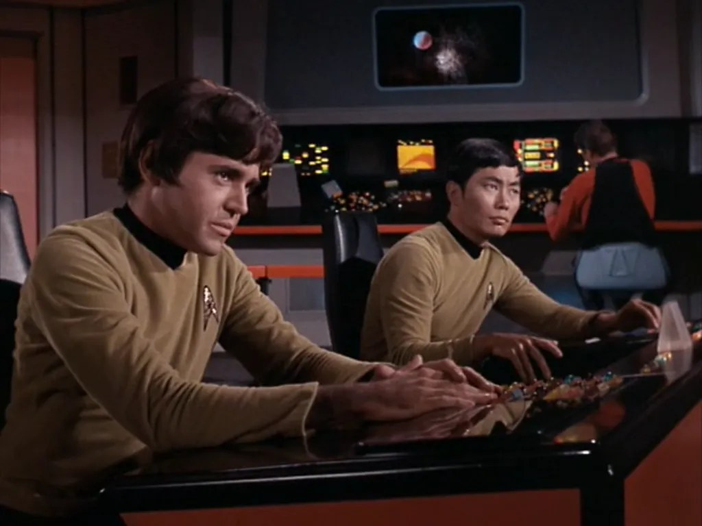 Image result for amok time chekov and sulu