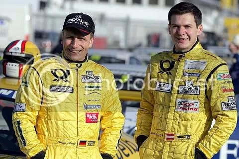 links Christian Menzel, rechts Richard Lietz. Voor het derde jaar teamgenoten