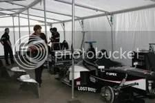 Minardi's Arrows tweezitters, preparatie op vrijdag