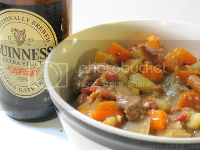 A hearty Irish stew gets a real boost of flavor from some rich, delicious Guinness.