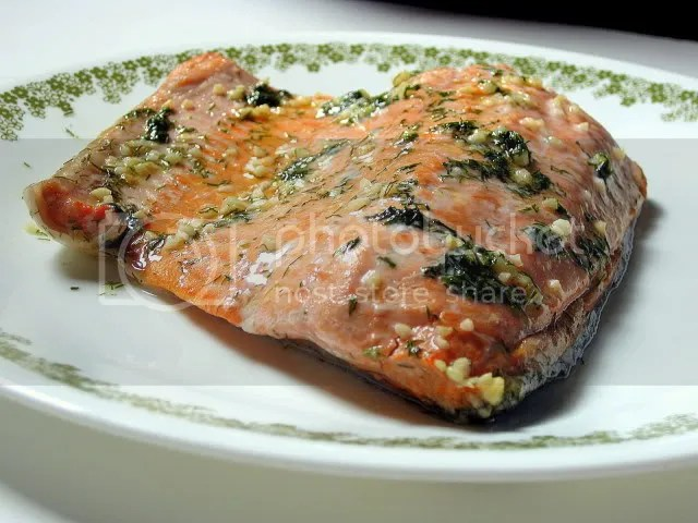 Wild Alaska salmon in a light lemon-dill sauce that compliments, not overwhelms, the flavorful fish.