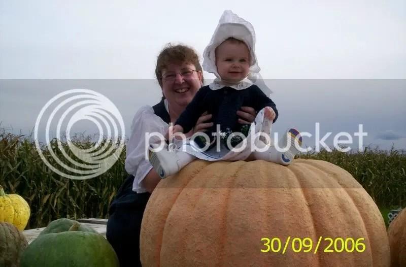 """Daddy's pumpkins, a small giant pumpkin with a few """"pumpkimellons"""" -pumpkin/watermelon cross"""