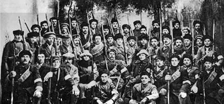 White Army officers, some in sashes