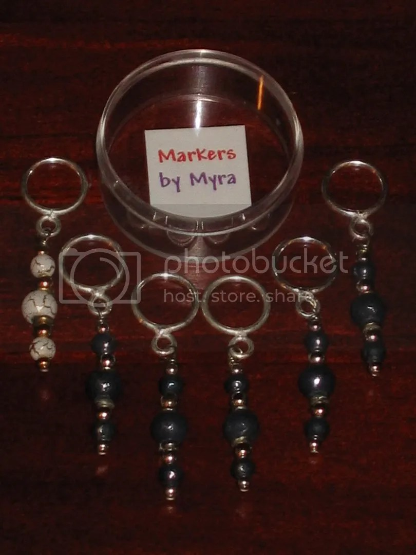 stitch markers from The Elegant Ewe (Concord, NH)