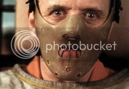 Anthony Hopkins como Hannibal Lecter no filme O Silêncio dos Inocentes de 1991