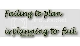 Failing to Plan is planning ot fail quote by Alan Lakein