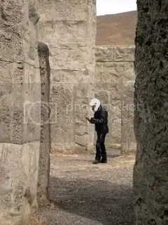 A Spaceman who was also visiting Menge.  Webly and I hid behind stones to take photos of him.