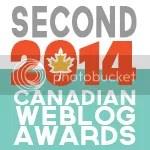 2014 Canadian Weblog Awards winner
