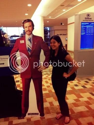I even met Ron Burgundy! :P