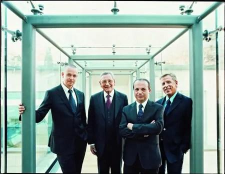 Maitres du Temps team, Peter Speake-Marin, Roger Dubuis, Christophe Claret and Steven Holtzman