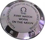 First watch worn on the moon - caseback