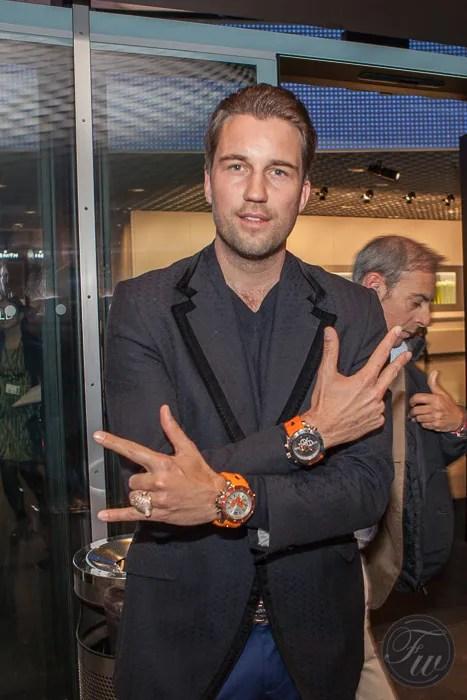 DJ Antoine wears a Kyboe watch