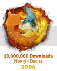 Firefox: 10 milhões de downloads