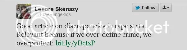 Lenore Skenazy Tweet Endorsing Rape Apologist Article