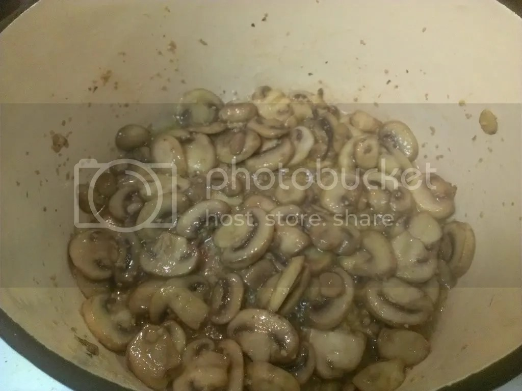 Mushrooms and garlic