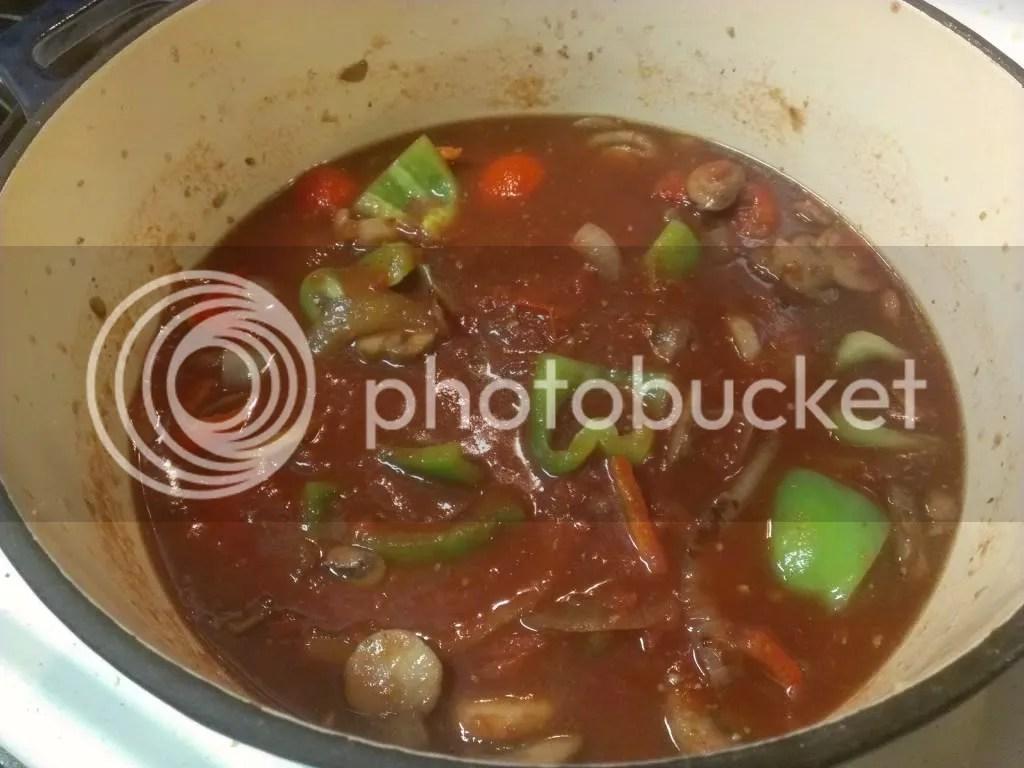 Heat the sauce