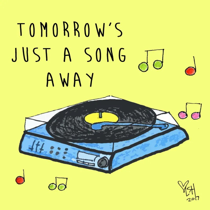 just a song away