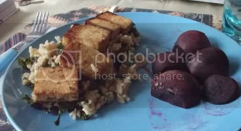 tofu beets and rice