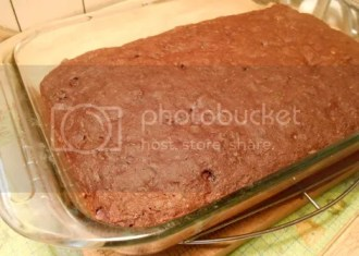 zucchini brownies baked