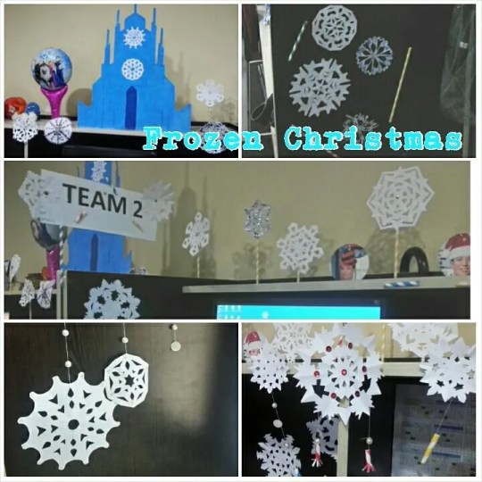 Frozen-themed Christmas decors