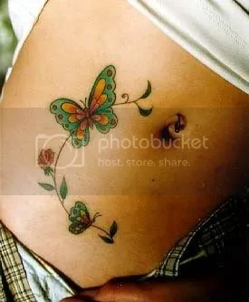 Girl Tattoos On Stomach