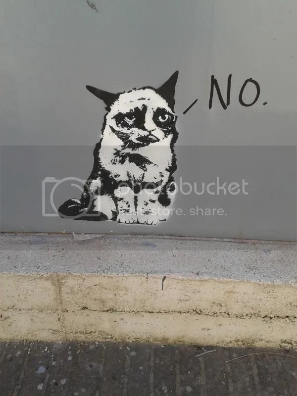 Grumpy Cat Street Art