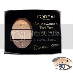 Loreal Color Appeal - Gold, Gold & more Gold blends in well and is great for a day out. It brightens your eyes, and is great to blend with other colors.