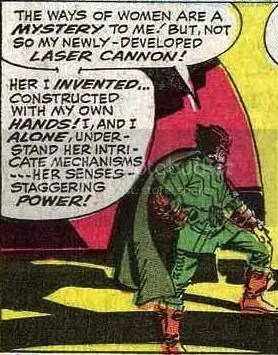 amusing panel from an old avengers comic
