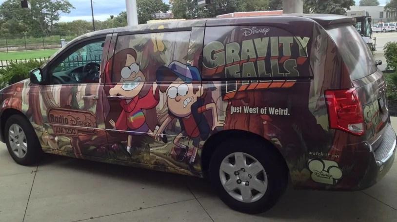 Gravity Falls Van Driver Side