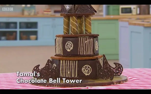 Tamal's chocolate bell tower