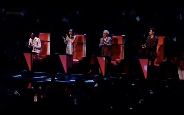 Pins appear on their seats whenever someone sings loud enough