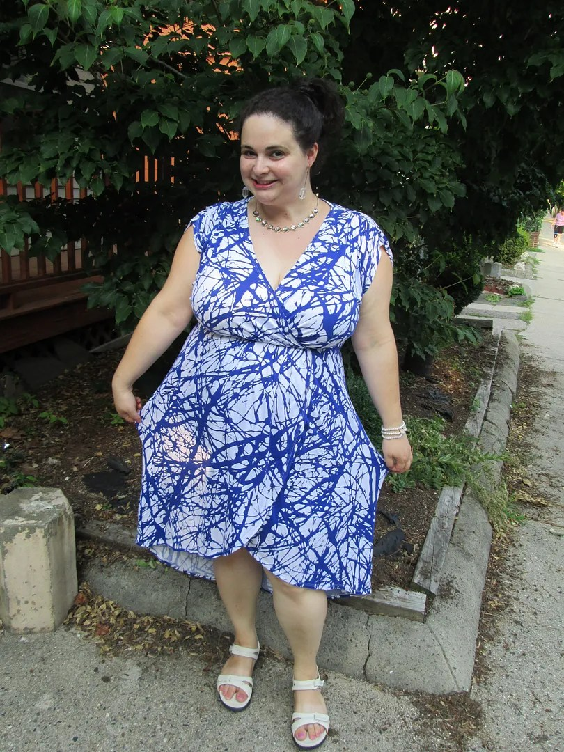 cobalt and white plus size dress summer outfit