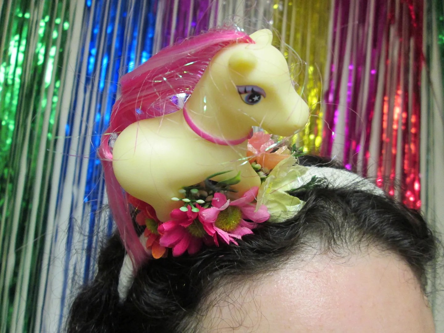 my little pony headband with flowers